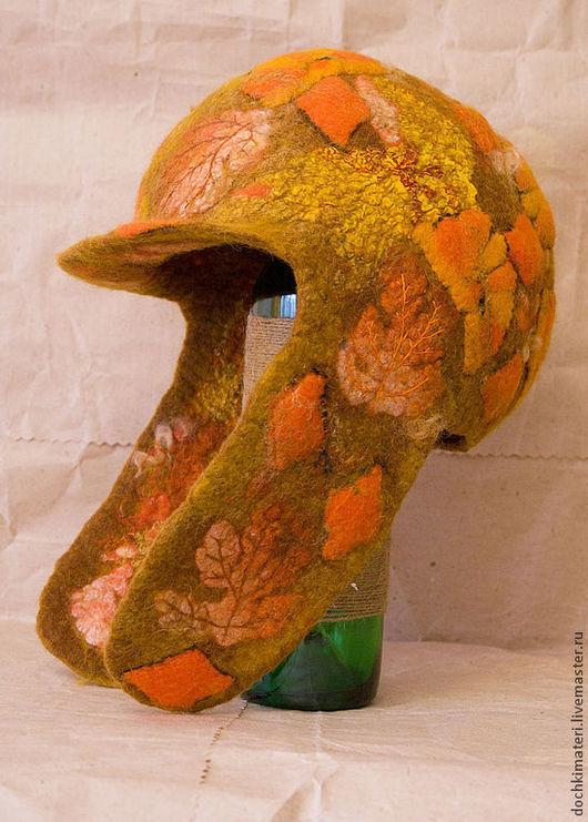 Шапки ручной работы. Ярмарка Мастеров - ручная работа. Купить Шапка ушанка, золотая осень 2. Handmade. Рыжий