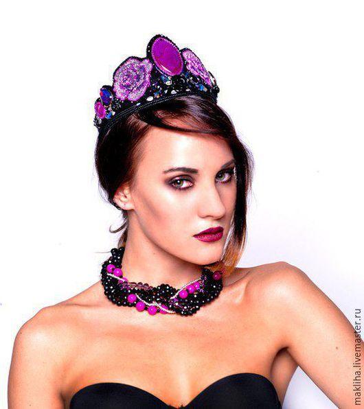 Диадемы, обручи ручной работы. Ярмарка Мастеров - ручная работа. Купить Корона, диадема, ободок в стиле Dolce Gabbana. Handmade.