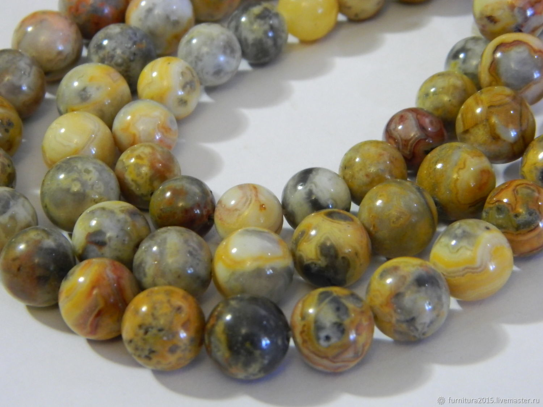 Agate Lion skin 10, 12 mm piece, Beads1, Saratov,  Фото №1