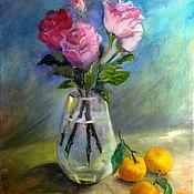Картины и панно handmade. Livemaster - original item oil painting. the season of tangerines.. Handmade.