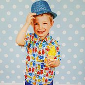 """Работы для детей, ручной работы. Ярмарка Мастеров - ручная работа Рубашка для мальчика """"Совы"""". Handmade."""