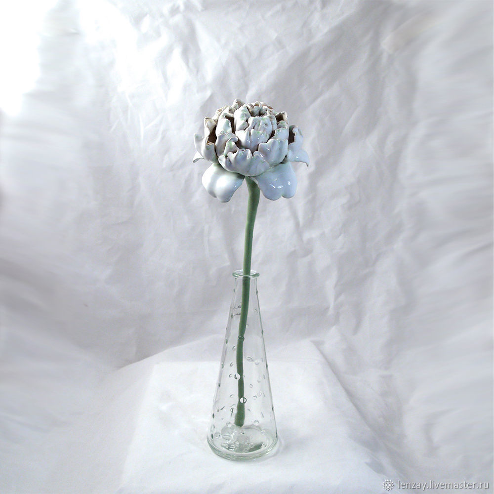 Ceramic peony on a stalk, Aromatic diffusers, Moscow,  Фото №1