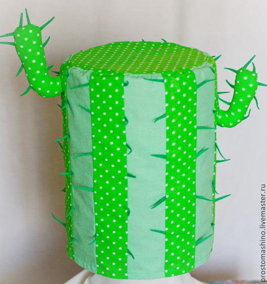 """Кухня ручной работы. Ярмарка Мастеров - ручная работа. Купить Чехол для кулера """"FunnyCovers. Веселый кактус"""". Handmade. Ярко-зелёный"""