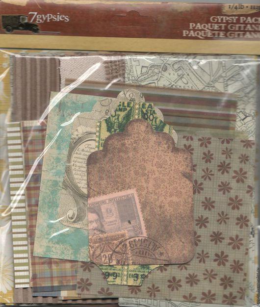 Открытки и скрапбукинг ручной работы. Ярмарка Мастеров - ручная работа. Купить Набор бумаги 7Gypsies для мини альбома Vintage Travel. Handmade.