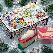Косметика ручной работы handmade. Livemaster - original item Set of natural soap Christmas box. Handmade.