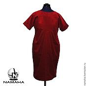 Платья ручной работы. Ярмарка Мастеров - ручная работа Платье красное из вельвета, бархата, замши, платье оверсайз. Handmade.