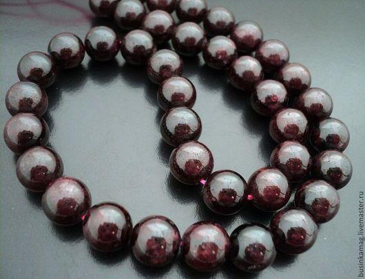Для украшений ручной работы. Ярмарка Мастеров - ручная работа. Купить Гранат гладкие бусины шарики, 9-10мм. Handmade.