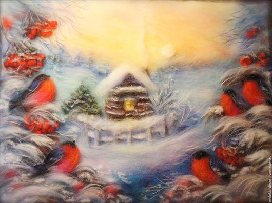 Пейзаж ручной работы. Ярмарка Мастеров - ручная работа. Купить Зимняя сказка.. Handmade. Картина в подарок, на заказ, зима