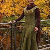 """Одежда ручной работы. Ярмарка Мастеров - ручная работа Валяное платье-сарафан """"Молодая осень"""". Handmade."""