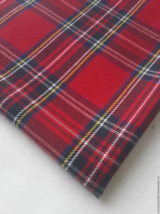 Шитье ручной работы. Ярмарка Мастеров - ручная работа. Купить Ткань шотландка. Handmade. Комбинированный, ткань, ткань для творчества