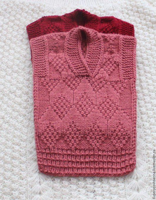 Одежда унисекс ручной работы. Ярмарка Мастеров - ручная работа. Купить детский вязаный жилет безрукавка детская. Handmade.