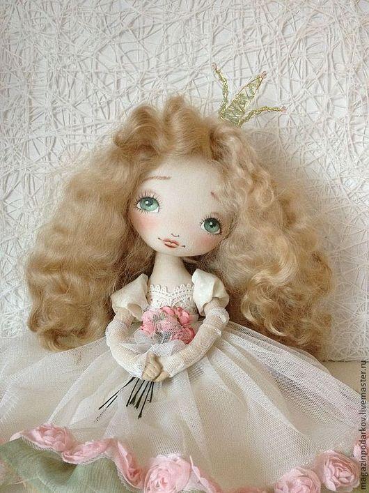 Коллекционные куклы ручной работы. Ярмарка Мастеров - ручная работа. Купить Кукла Принцесса Апрелия. Handmade. Кремовый, кукла интерьерная
