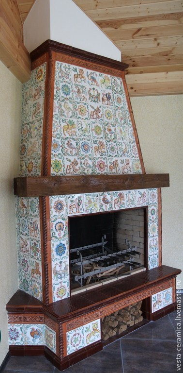 Tiled fireplace Chalet, Fireplaces, Moscow,  Фото №1