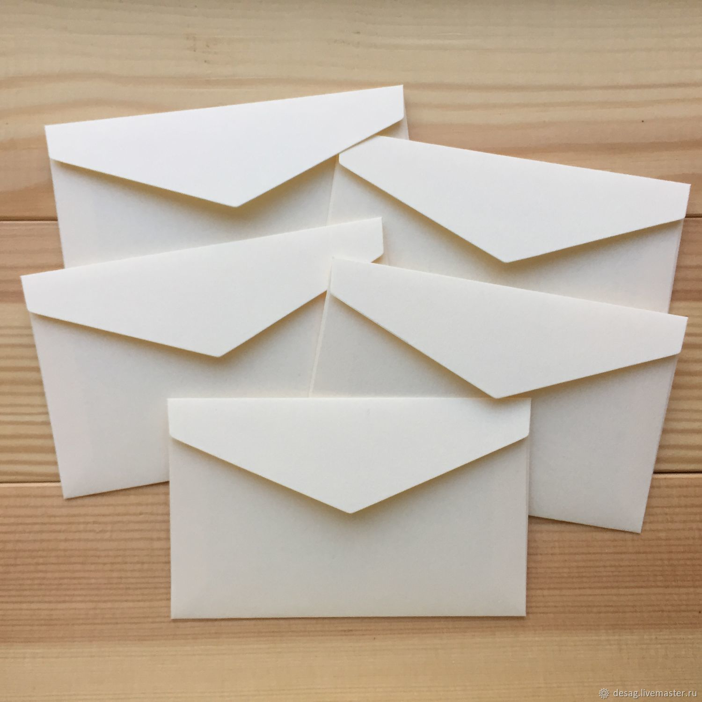 Мини-конверт из дизайнерской бумаги (светло-кремовый), Упаковка, Москва, Фото №1
