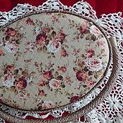 Коробочка для швейных принадлежностей в стиле Прованс бежевого цвета