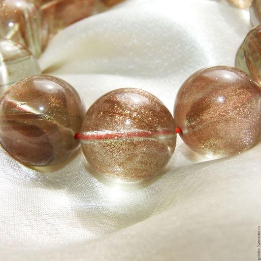 Для украшений ручной работы. Ярмарка Мастеров - ручная работа. Купить ЗОЛОТОЙ ПЕСОК шар 20 мм бусины кварц. Handmade.