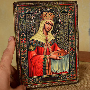 Pictures and panels handmade. Livemaster - original item The Icon Of Saint Helena. Handmade.