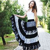 Одежда handmade. Livemaster - original item STRAUKASA ELEGANT, FLOOR-LENGTH SKIRT, TIERED: