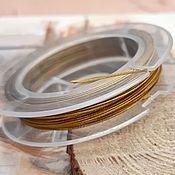 Материалы для творчества handmade. Livemaster - original item 10 m a 0,45 mm jewelry Cord ant. gold (1958-Z). Handmade.