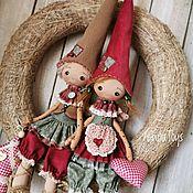 Куклы и игрушки handmade. Livemaster - original item Homeowners.Textile attic doll.Dwarf Amulet.Doll. Handmade.