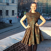 Одежда ручной работы. Ярмарка Мастеров - ручная работа Валяное платье Самоцветы. Handmade.