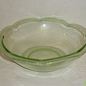 handmade. Livemaster - original item Vase, bowl. Colored YELLOW GREEN glass. The beginning of the 20th century.. Handmade.