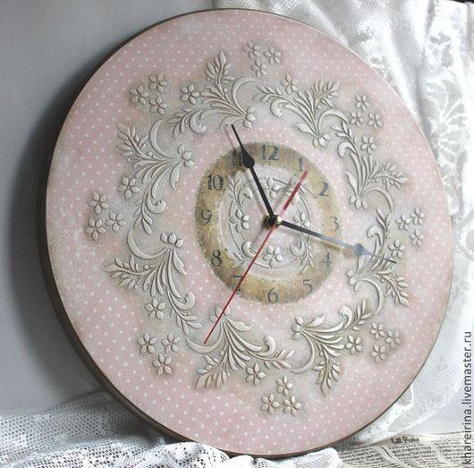 Часы для дома ручной работы. Ярмарка Мастеров - ручная работа. Купить Часы настенные 35 см. Handmade. Часы настенные