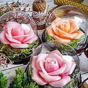 Мыло ручной работы. Ярмарка Мастеров - ручная работа Роза в куполе. Handmade.