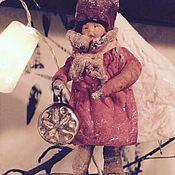 """Подарки к праздникам ручной работы. Ярмарка Мастеров - ручная работа Ватные елочные игрушки """"Малыш с игрушкой"""". Handmade."""