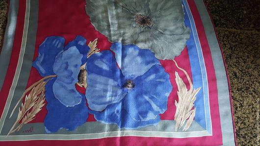 Винтажная одежда и аксессуары. Ярмарка Мастеров - ручная работа. Купить Шелковый  винтажный платок. Handmade. Комбинированный, винтаж, коллекционный