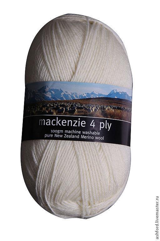 Вязание ручной работы. Ярмарка Мастеров - ручная работа. Купить Пряжа для вязания Маккензи, белая 100 гр. Handmade. Белый
