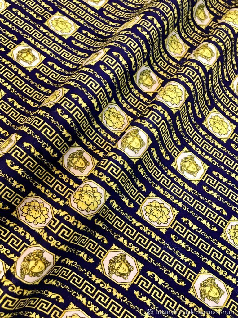 Versace Versace Elastic fabric viscose silk Baroque Medusa, Fabric, Moscow,  Фото №1