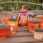 """Посуда ручной работы. Ярмарка Мастеров - ручная работа Сервиз чайный """"Рыжесть повышенная"""". Handmade."""