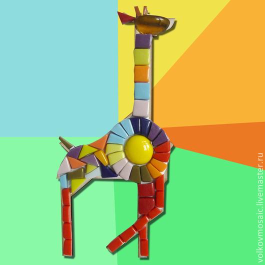 Этого веселого жирафа можно сделать со своим ребенком вместе. Придумать ему имя, может какую сказку про него сочинить...