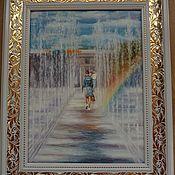 Картины ручной работы. Ярмарка Мастеров - ручная работа Радужная дорожка. 30х40см. Handmade.