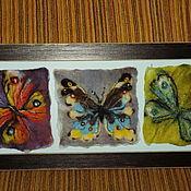 """Картины и панно ручной работы. Ярмарка Мастеров - ручная работа Панно """"Бабочки"""". Handmade."""