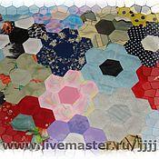 """Для дома и интерьера ручной работы. Ярмарка Мастеров - ручная работа лоскутное покрывало""""Цветочная поляна"""". Handmade."""