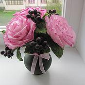 Цветы и флористика ручной работы. Ярмарка Мастеров - ручная работа розы из полимерной глины. Handmade.