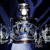 Посуда handmade. Livemaster - original item Set for whisky