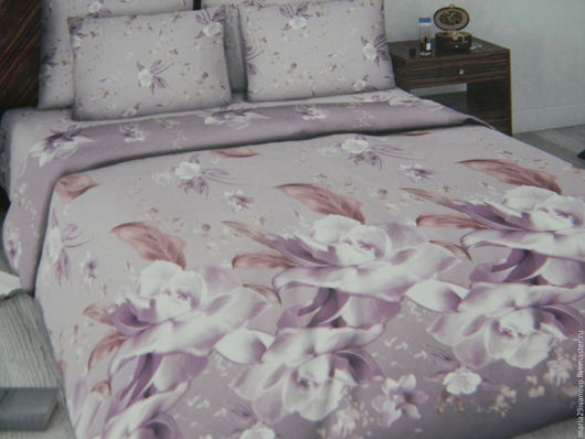 """Текстиль, ковры ручной работы. Ярмарка Мастеров - ручная работа. Купить Комплект постельного белья из сатина """"Нежность"""". Handmade."""