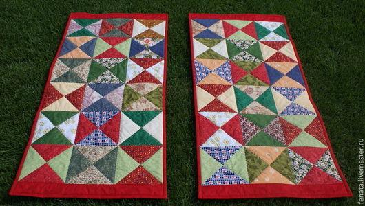 Текстиль, ковры ручной работы. Ярмарка Мастеров - ручная работа. Купить Пледики для сундука. Handmade. Ярко-красный, лоскутное одеяло