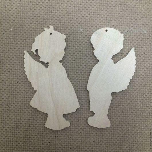 Новый год 2017 ручной работы. Ярмарка Мастеров - ручная работа. Купить Елочные игрушки ангелочки, заготовки.. Handmade. Бежевый