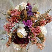 Цветы и флористика ручной работы. Ярмарка Мастеров - ручная работа Букет из сухоцветов с бессмертником. Handmade.