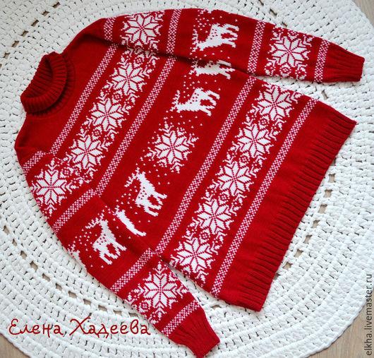 Кофты и свитера ручной работы. Ярмарка Мастеров - ручная работа. Купить Для любимой доченьки  - 2. Handmade. Ярко-красный