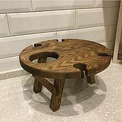 Для дома и интерьера handmade. Livemaster - original item Wine table for 4 glasses. Table wooden. Handmade.