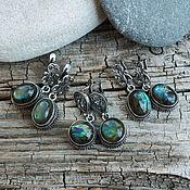 handmade. Livemaster - original item Royal earrings with labrador