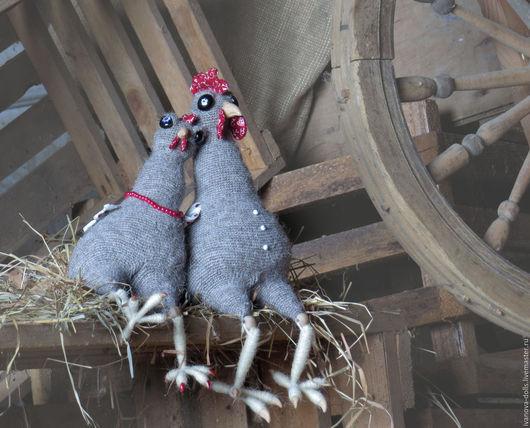 Игрушки животные, ручной работы. Ярмарка Мастеров - ручная работа. Купить Авторская вязаная игрушка курица и петух. Чета Курочкиных. Handmade.