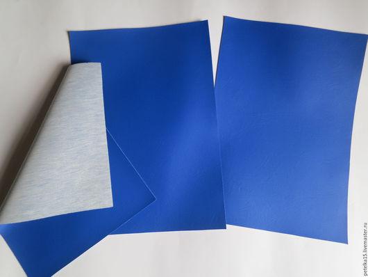 Шитье ручной работы. Ярмарка Мастеров - ручная работа. Купить листы экокожи №58 синий. Handmade. Кожа, кожа для украшений
