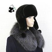 Аксессуары handmade. Livemaster - original item Hat with earflaps made of Finnish mink fur. Art. IA-13. Handmade.
