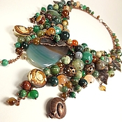 Украшения handmade. Livemaster - original item Emerald Coast Caramel. necklace. Handmade.
